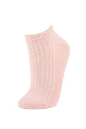 Defacto Kadın Renkli Desenli Patik Çorap 5'li 3
