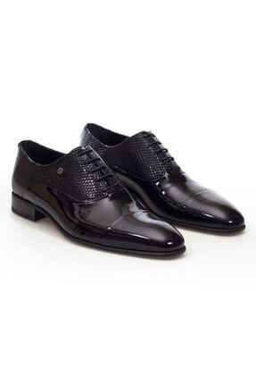 MARCOMEN Siyah Rugan Hakiki Deri Bağcıklı Erkek Klasik Ayakkabı • A20eymcm0002 0