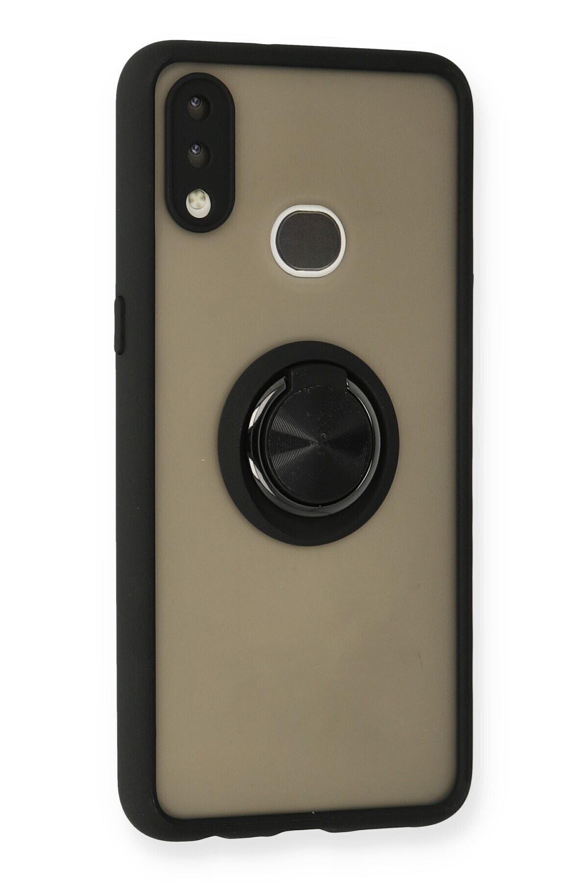 SENKA Samsung Galaxy A10s Kılıf Yüzüklü Standlı Silikon Kapak