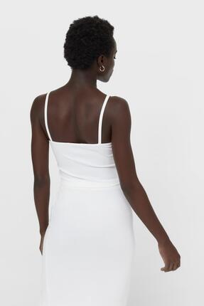 Asfa Moda Kadın Fitilli Ip Askılı Crop Top Bluz 1