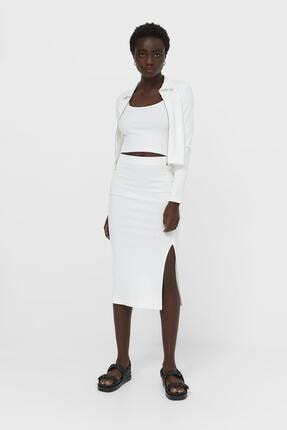 Asfa Moda Kadın Fitilli Ip Askılı Crop Top Bluz 3