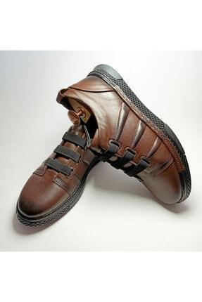 Ayakkabium Erkek Kahverengi Sneaker Günlük Ayakkabı 3