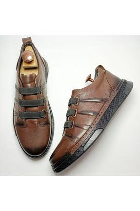 Ayakkabium Erkek Kahverengi Sneaker Günlük Ayakkabı 4