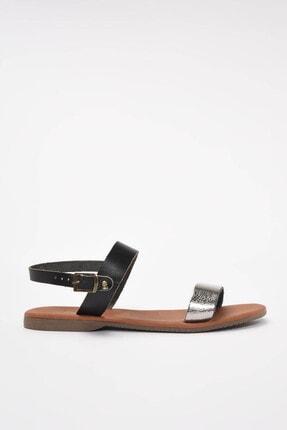 Yaya by Hotiç Hakiki Deri Siyah Kadın Sandalet 01SAY300130A102 1