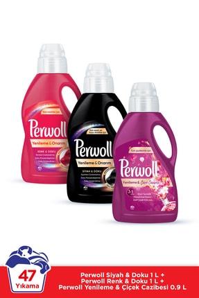 Perwoll Hassas Bakım Sıvı Çamaşır Deterjanı 3x1L (47 Yıkama) Renkli + Siyah + Çiçek Cazibesi Yenileme&Onarım 0
