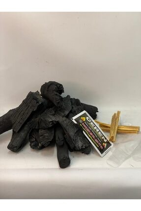 CEREN MANGAL Tozsuz Doğal Meşe Mangal Kömürü 10 Kg Ve Köz Maşası,hediyeli (çıra,eldiven,ıslak Mendil) 2