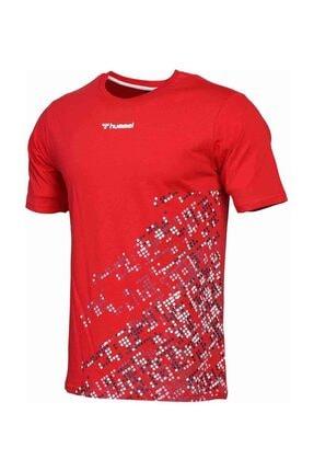 HUMMEL Erkek Kırmızı Welo Kısa Kollu Tişört 1