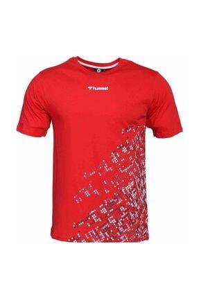 HUMMEL Erkek Kırmızı Welo Kısa Kollu Tişört 2