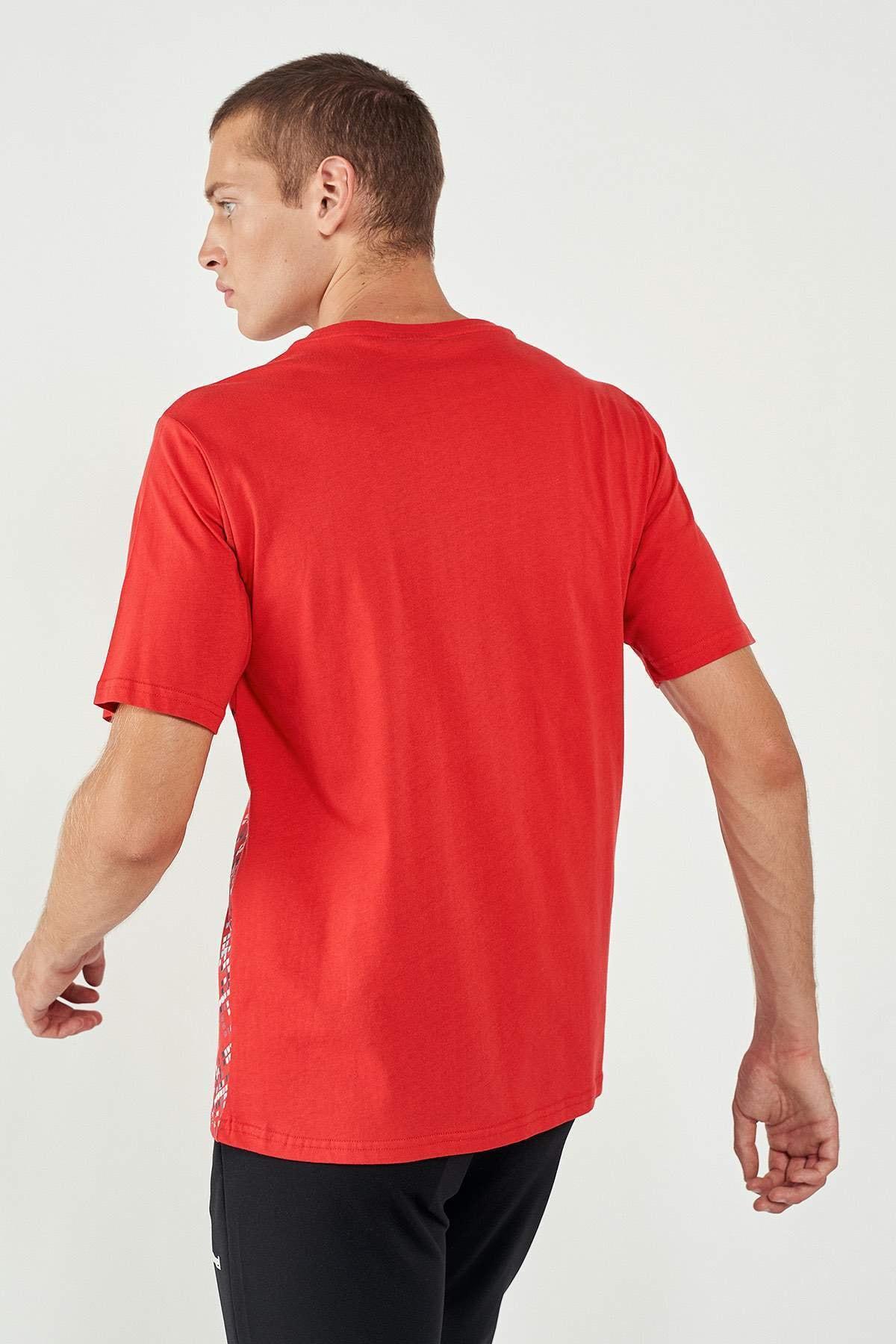 HUMMEL Erkek Kırmızı Welo Kısa Kollu Tişört 3