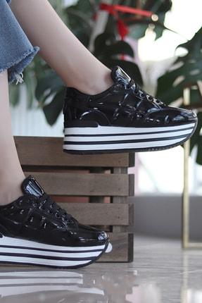TRENDBU AYAKKABI Siyah Kadın Sneaker SPOR7072 1