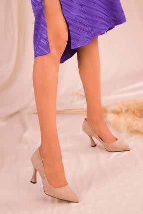 Soho Exclusive Ten Süet Kadın Klasik Topuklu Ayakkabı 16002 1