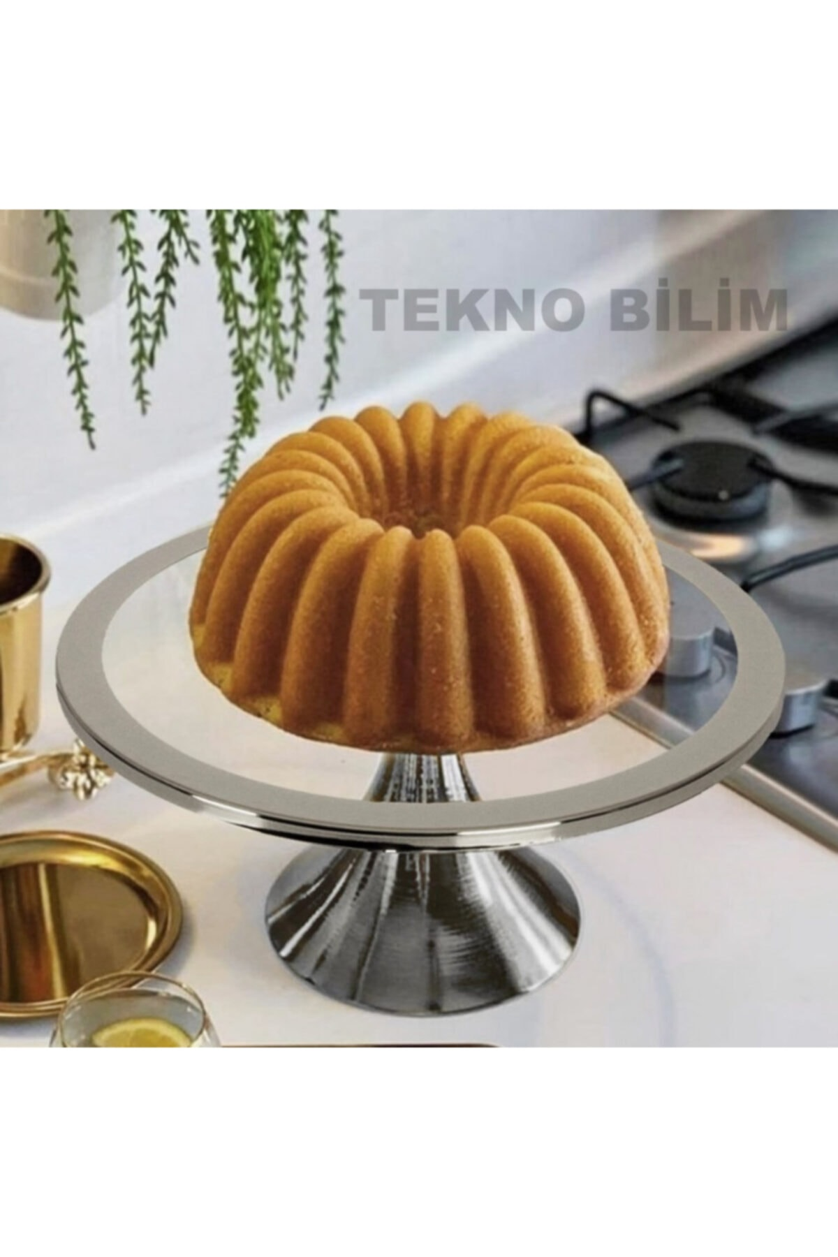 Gümüş Ayaklı Kek Ve Pasta Standı 30cm