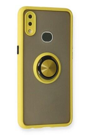 SENKA Samsung Galaxy A10s Kılıf Yüzüklü Standlı Silikon Kapak 1