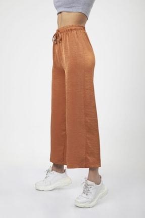 MD trend Kadın Kiremit Bel Lastikli Bağcıklı Bol Paça Salaş Pantolon 3