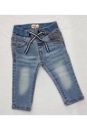 تصویر از Erkek Bebek Açık Mavi Lastikli Kot Pantolon