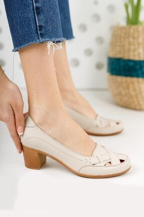 Diego Carlotti Hakiki Deri Kadın Topuklu Günlük Klasik Ayakkabı 0