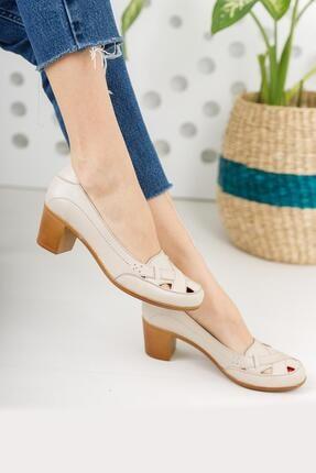 Diego Carlotti Hakiki Deri Kadın Topuklu Günlük Klasik Ayakkabı 1
