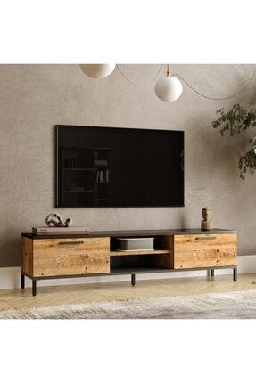 Yurudesign Royal 2 Kapaklı Metal Ayaklı Çam Tv Ünitesi Rl1-aa 1