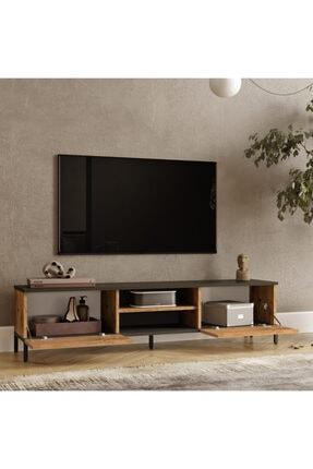 Yurudesign Royal 2 Kapaklı Metal Ayaklı Çam Tv Ünitesi Rl1-aa 3