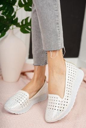 Moda Değirmeni Kadın Gri Taşlı Günlük Ayakkabı Md1016-111-0001 2