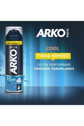 Arko Men Men Tıraş Köpüğü Cool 4x200ml 3