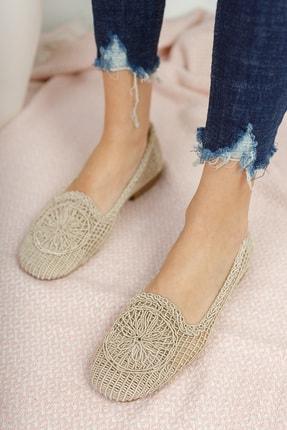 Moda Değirmeni Kadın Ten Dantelli Günlük Ayakkabı Md1062-111-0001 1
