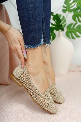 Moda Değirmeni Kadın Ten Dantelli Günlük Ayakkabı Md1062-111-0001 2