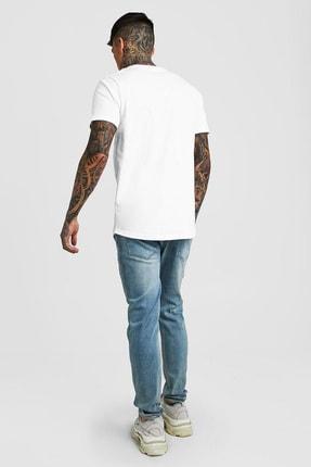 XHAN Beyaz Bisiklet Yaka T-shirt 1kxe1-44750-01 2