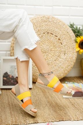 Muggo Şeritli Kadın Sandalet 3