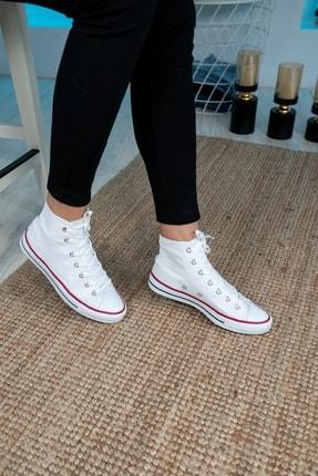 Bartrobel Unisex Beyaz Bilekli Keten Spor Ayakkabı 1