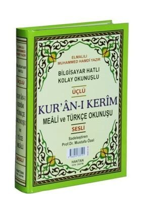 Haktan Yayın Dağıtım Kur'an-ı Kerim (bilgisayar Hatlı, Sesli) (rahle Boy) (mealli Ve Türkçe Okunuşlu) (kod: H-59) 0