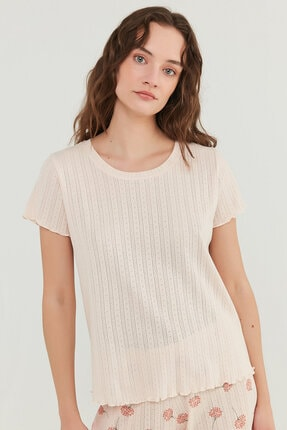Penti Kadın Açık Pembe Ixia Pointel Tişört 0