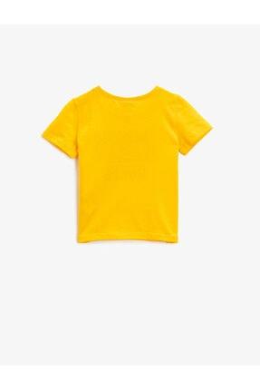 Koton Erkek Bebek Sarı Pamuklu Kısa Kollu Bisiklet Yaka T-Shirt 1