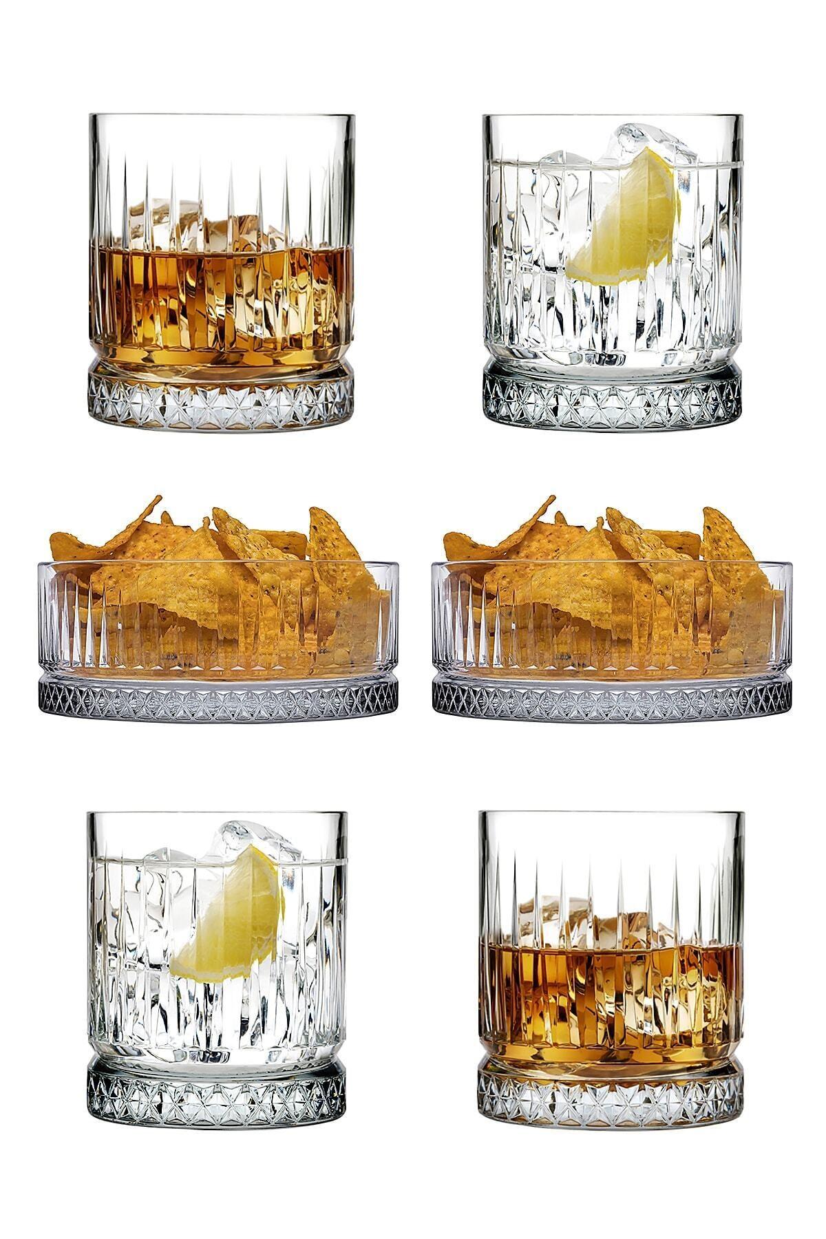 6 Parça Elysıa Keyif Seti - 4 Viski/meşrubat Bardağı Ve 2 Çerezlik