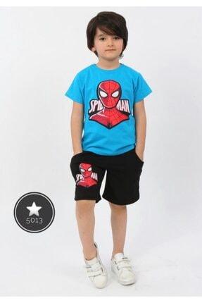 Spiderman Erkek Çocuk Işıklı Spiderman Şortlu Takım 0