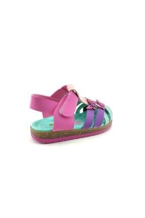 Şirin Bebe Kız Çocuk Sandalet Pembe-yeşil 2
