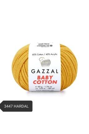 Gazzal Babycotton Amigurumi Ipi Örgü Ipi Punch Ipi El Örgü Ipi 3447 Hardal 0