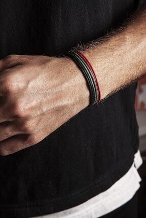 Chill & Feel Kalın Ip - Siyah, Kırmızı, Yeşil 3lü Ayarlanabilir Bileklik 1