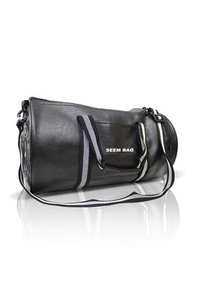 BAVYERA Seem Bag Silindir Spor Fitness Çantası Askılı Siyah 2