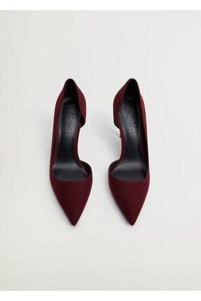 Mango Kadın Bordo Asimetrik Stiletto Ayakkabı 2