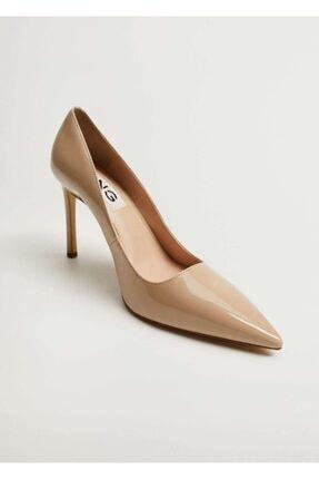 Mango Topuklu Rugan Deri Ayakkabı 3
