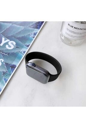 Apple Watch 6 Kordon Pürüzsüz Soft Mat Silikon Small 44mm Krd-31 0