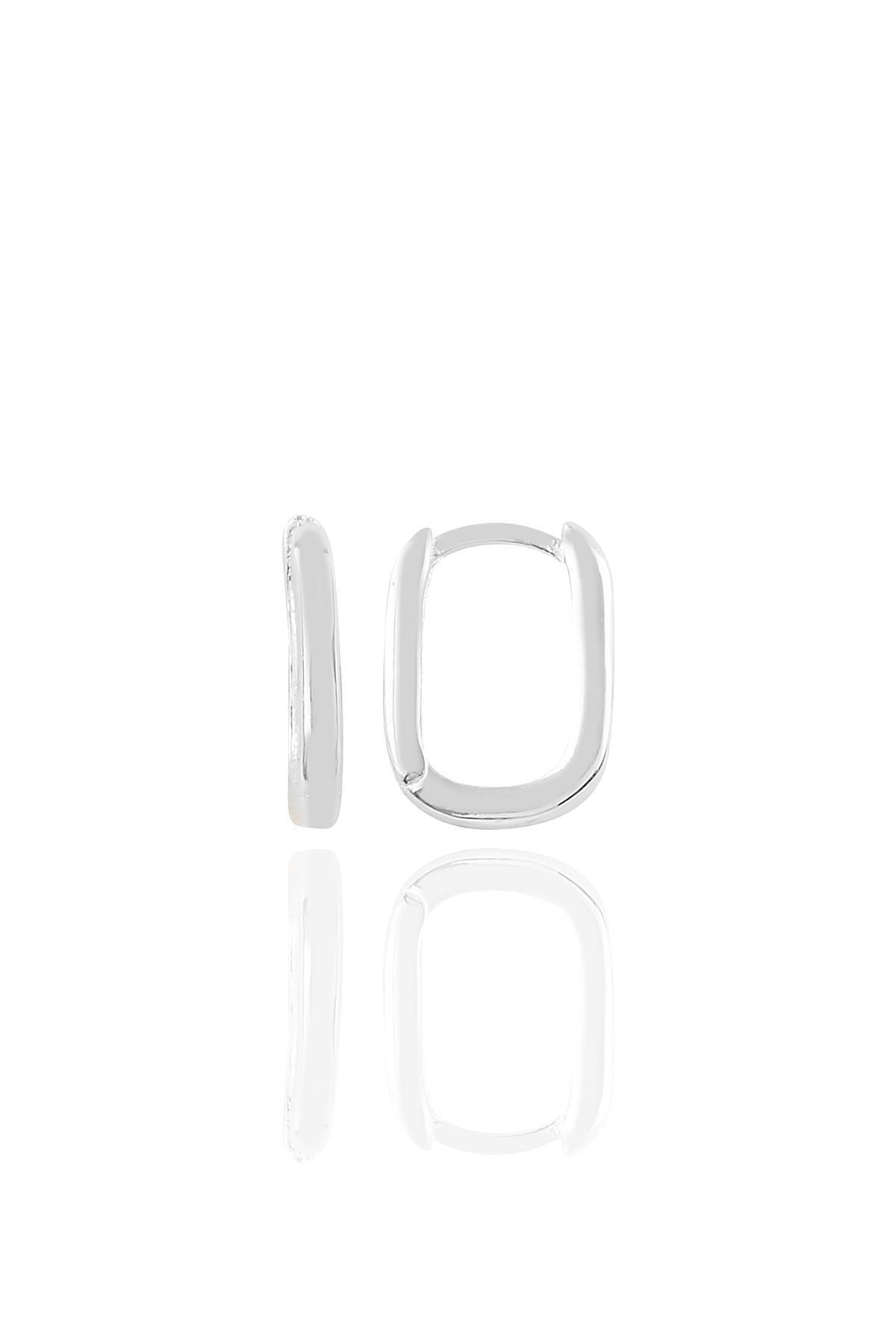 Gümüş Rodyumlu Sade U Modeli Kupe