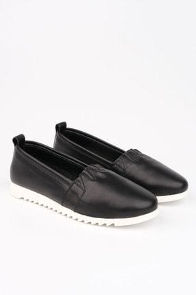 Marjin Kadın Siyah Hakiki Deri Comfort Ayakkabı Tilev 3
