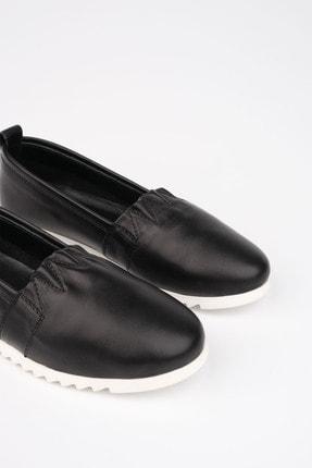 Marjin Kadın Siyah Hakiki Deri Comfort Ayakkabı Tilev 4