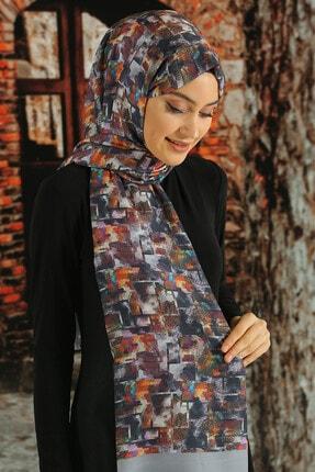 Moda Ebrar Kadın Desenli Pamuk Şal - Tmeds-048 0