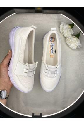 AYŞEM Kadın Beyaz Ortopedik Günlük Ayakkabı 2