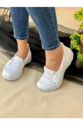 AYŞEM Kadın Beyaz Ortopedik Günlük Ayakkabı 3