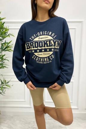 Eka 0939-0231 Broklyn Baskılı Şardonlu Sweatshirt 1