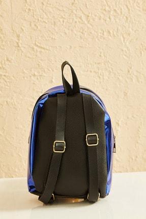Bianco Lucci Bag Kadın Parlak Fermuarlı Sırt Çantası Cnt038 2